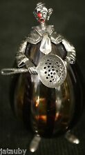 MURANO BLOWN ART GLASS CLOWN CHEF COOK Strainer Sterling Silver Italy
