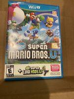 New Super Mario Bros. U  (Nintendo Wii U, 2013) ~TESTED WORKING~ No Manual