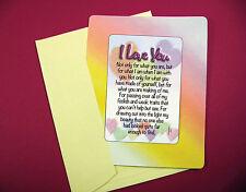 """I Love You"" Poem - Keepsake Enclosed Verse Card - Sku 541"