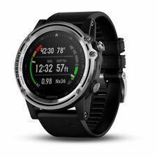 Garmin Descent Mk1 Silver Sapphire Premium Featured Dive Watch with Black Band