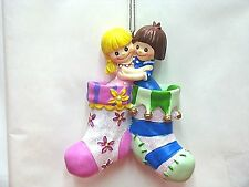 GIRLS IN STOCKINGS ORNAMENT