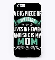 Mothers Day Gift, Mom Lives In Heaven Gift Phone Case iPhone