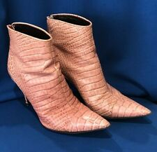 VIA SPIGA 9 M Womens Fashion Ankle High Heel Leather Boots~ITALY