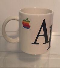 Vintage 1980's Apple Computers Rainbow Logo Macintosh Coffee Mug Cup