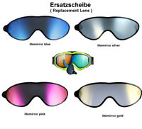 Uvex Comanche Take Off Ersatzscheibe blue gold silver pink Skibrille Goggle