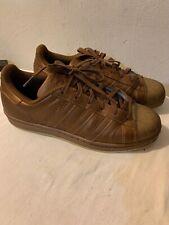 Women's Original Adidas Superstar metallic Brown Sneakers Size 8