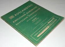 DB-Auslandkursbuch Winter 1959/60