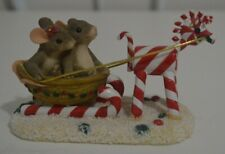 Charming Tails Sleigh Ride Sweeties Limited Edition Fitz and Floyd 87/100 Dean G