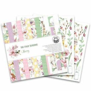"Piatek13 12""x12"" Paper Pad - The Four Seasons – Spring, 12 Sheets"