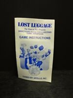 ATARI 2600 VCS Game *Manual ONLY* Catalog 1982 Apollo LOST LUGGAGE Instructions