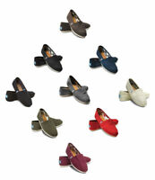 New Authentic TOMS Women CLASSIC Solid Canvas Slip on flats shoes PK Size /COLOR