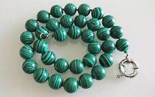 45cm 12mm grüne Malachit Halskette