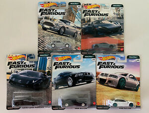 HOT WHEELS 2020 -  FAST & FURIOUS - EURO FAST - REAL RIDERS - SET OF 5 - NEW