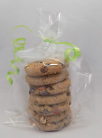 """50 x Clear sweet Gift, Party, Display Bags with gusset 9"""" x 5"""" x 3"""" & Twist ties"""