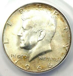 1966 Kennedy Half Dollar (50C Coin) - ANACS MS66 - Rare in MS66 - $214 Value!