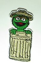 """Sesame Street Oscar The Grouch In His Garbage Can Embroidered 2 1/2"""" Tall Patch"""