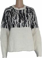 Noa Noa Damen Pullover Strick Alpaka creme Wollmischung sehr flauschig
