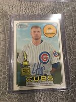 2018 Topps Heritage High Number | IAN HAPP Auto Real One Blue Ink ONCARD Cubs