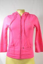 Bebe jacket Logo Hooded pink crystal light weight hoodie 178469 medium