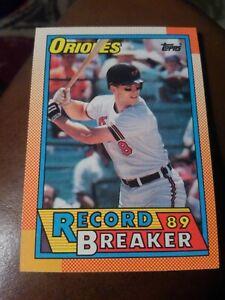 """CAL RIPKEN JR. 1990 TOPPS RECORD BREAKER """"89"""" #8 FREE SHIPPING"""