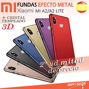 Funda Xiaomi Mi A2/A2 Lite Carcasa Rígida Efecto Metal Acabado Brillo Dura