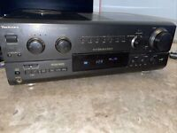 Technics Receiver Amplifier Tuner Stereo Dolby Surround SA-AX720 Bundle Tested