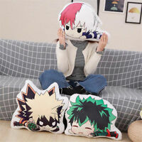 Anime Boku no Hero Academia Midoriya Todoroki Shouto Plush Pillow Toy Cushion