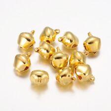 LOT de 20 jolies CLOCHETTES GRELOTS 12 x 10mm DORES perles création bijoux