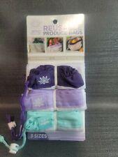 New listing Lotus Reuseable Produce Bag 3-Pk 3 Sizes Eco-Friendly Machine Washable Bpa Free
