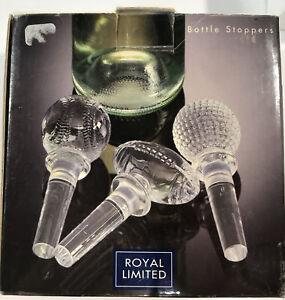 Royal Limited Glass Bottle Stoppers Sports Baseball Golf Football