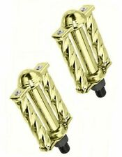 """NEW GOLD Square Twisted Bicycle Pedals 1/2"""" Chopper Custom Lowrider Show Bike"""