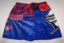 Newcastle Knights Nrl Boys Blue Satin Boxer Shorts Size 12 New