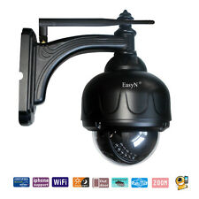 Easyn Wireless Wifi Zoom IP Survellance Camera+PTZ Weatherproof IR Night Vision