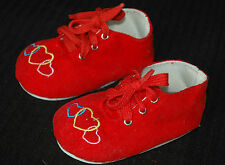 """Masterpiece Dolls  Red Corduory Shoes Fits Up To 29"""" Dolls, 4 1/2 Long x 2 Wide"""
