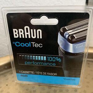 Braun 40B cooltec Cassette Foil Cutter Shaver 100% Authentic Genuine OEM Sealed