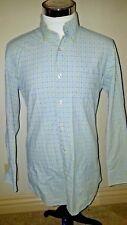 Sero Blue & Green Plaid Tailored Slim Fit Shirt, Medium, Perfect Condition!