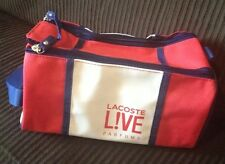 New Lacoste Live Parfums Bang Toiletry Bag Travel Red White Blue Small Make Up