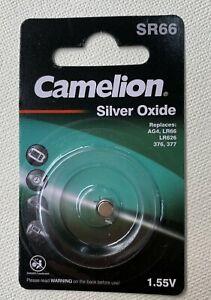Knopfzelle Silver Oxide Batterie Camelion AG4 SR66W LR626 377 177 SR626-1,55V