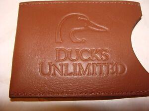 Ducks Unlimited Money Clip Wallet. Card Holder. Berman Leather