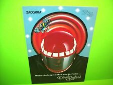 Zaccaria DEVIL RIDERS Original NOS 1984 Flipper Game Pinball Machine Flyer Italy
