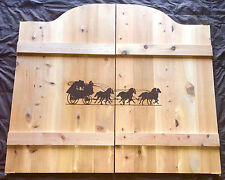"""24-36"""" Western Stagecoach Horses Saloon Cafe Swinging Doors - Decor Game Room"""