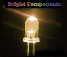 10 x Warm White LED 5mm - Ultra Bright - 1st CLASS POST