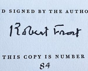 In the Clearing by Robert Frost signed ~ 84/1500 ~ 1962