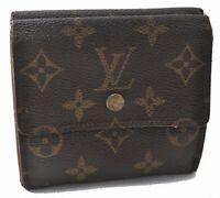 Auth Louis Vuitton Monogram Portefeuille Elise Purse Wallet M61654 LV B0639