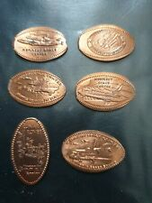 6 x Kennedy space centre Space Shuttle penny cents 2011 - 2015, Lunar Rover/747