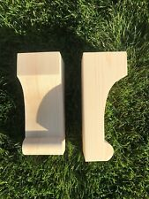 Wooden Corbels (Shelf Brackets) solid pine style P (1 pair)