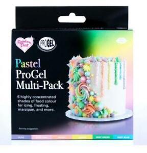 Pastel ProGel Multipack 6 Food Colouring Baking Gels Cake Decorating