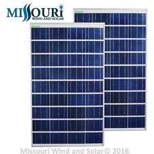 (2) 100 Watt 12 Volt Polycrystalline Andromeda Solar Panels PV Offgrid
