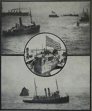 USS Battleship Maine Burial At Sea Havana 1912 Photo Article 8200