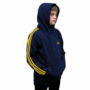 adidas Hoodie Sweatshirt Youth Active Pullover Fleece Cotton Blend Color Options
